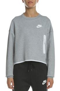 NIKE - Γυναικεία φούτερ μπλούζα NIKE NSW TCH FLC CREW γκρι