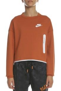 NIKE - Γυναικεία φούτερ μπλούζα NIKE NSW TCH FLC CREW πορτοκαλί