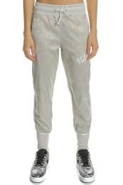 NIKE - Γυναικείο παντελόνι φόρμας NSW TRACK PANT JACQUARD μπεζ με μοτίβο