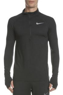NIKE - Ανδρική μακρυμάνικη μπλούζα NIKE ELMNT TOP HZ 2.0 μαύρη