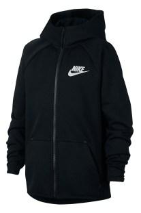 NIKE - Αγορίστικη ζακέτα Nike Sportswear Tech Fleece μαύρη