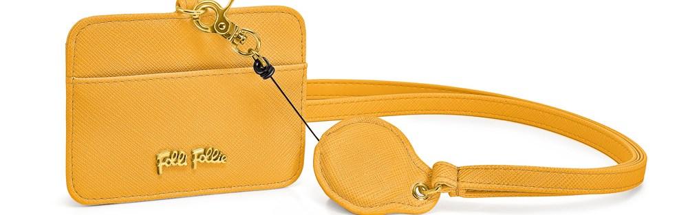 FOLLI FOLLIE - Θήκη για κάρτες με θηλιά FOLLI FOLLIE κίτρινη