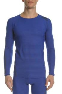 adidas Performance - Ανδρική μακρυμάνικη μπλούζα Alphaskin 360 μπλε