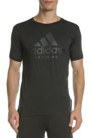 adidas Performance - Ανδρική κοντομάνικη μπλούζα adidas Training μαύρη