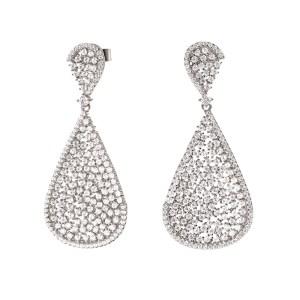 FOLLI FOLLIE - Γυναικεία ασημένια σκουλαρίκια FOLLI FOLLIE SPARKLE CHIC