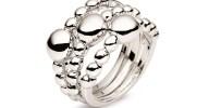 FOLLI FOLLIE - Σετ από τρία δαχτυλίδια FOLLI FOLLIE ασημί