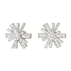 FOLLI FOLLIE - Γυναικεία ασημένια σκουλαρίκια FOLLI FOLLIE STAR FLOWER