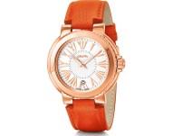 FOLLI FOLLIE - Γυναικείο δερμάτινο ρολόι FOLLI FOLLIE WATCHALICIOUS πορτοκαλί