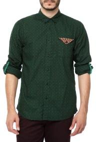 SCOTCH & SODA - Ανδρικό μαικρυμάνικο πουκάμισο SCOTCH & SODA πράσινο