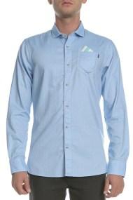 SCOTCH & SODA - Ανδρικό μακρυμάνικο πουκάμισο Classic oxford γαλάζιο