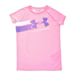 UNDER ARMOUR - Κοριτσίστικη αθλητική κοντομάνικη μπλούζα FAST LANE SS ροζ