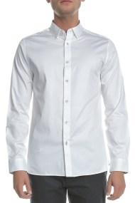 TED BAKER - Ανδρικό μακρυμάνικο πουκάμισο PLATEEN LS λευκό