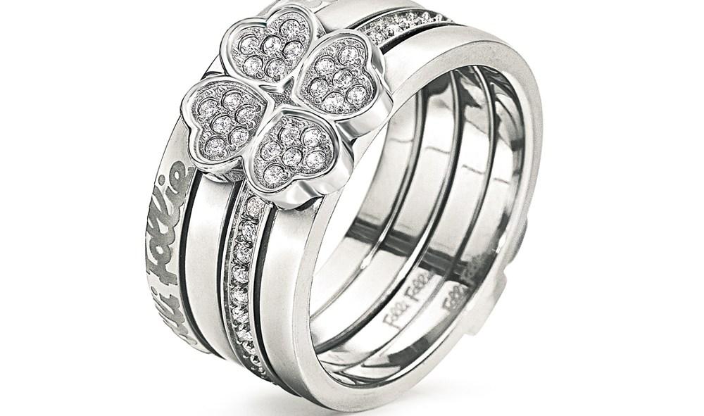 FOLLI FOLLIE - Γυναικείο επάργυρο τριπλό δαχτυλίδι FOLLI FOLLIE ETERNAL HEART