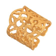 JEWELTUDE - Επίχρυσο δαχτυλίδι Δαντέλα Arabesque