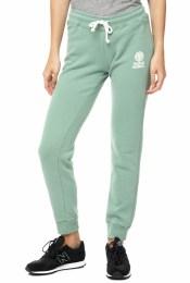 FRANKLIN & MARSHALL - Γυναικείο παντελόνι φόρμας FRANKLIN & MARSHALL πράσινο