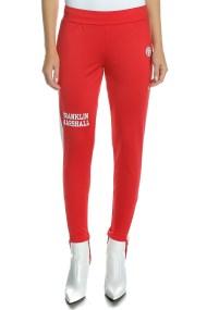 FRANKLIN & MARSHALL - Γυναικείο παντελόνι φόρμας FRANKLIN & MARSHALL κόκκινο