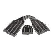 SSEINSE - Ανδρικό σετ σκούφος-κασκόλ SSEINSE μαύρο-γκρι image
