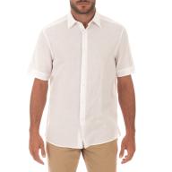 CK - Ανδρικό κοντομάνικο πουκάμισο CK λευκό