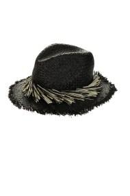 ECHO - Γυναικείο ψάθινο καπέλο ECHO MANGROVE μαύρο