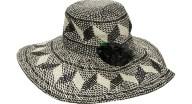 ECHO - Γυναικείο ψάθινο καπέλο ECHO SYDNEY ασπρόμαυρο