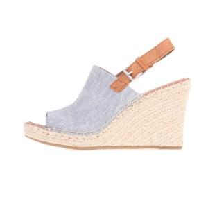 TOMS - Γυναικείες peep-toe πλατφόρμες TOMS μπλε