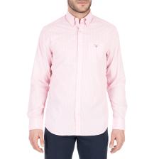 GANT - Ανδρικό μακρυμάνικο πουκάμισο GANT ροζ