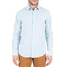 GANT - Ανδρικό μακρυμάνικο πουκάμισο GANT γαλάζιο με ριγέ μοτίβο