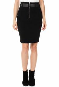 GUESS - Γυναικεία μίνι pencil φούστα GUESS HUGOLINA μαύρη