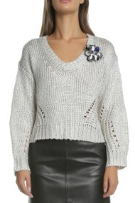 GUESS - Γυναικείο πουλόβερ ABIGAIL γκρι