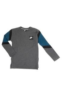 NIKE - Παιδική μακρυμάνικη μπλούζα NIKE AIR LS γκρι-μπλε