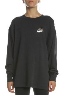 NIKE - Γυναικεία φούτερ μπλούζα ΝΙΚΕ SW RALLY CREW METALLIC μαύρη
