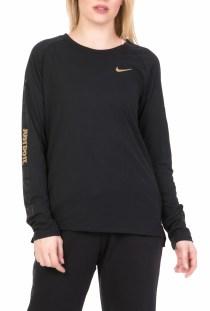 NIKE - Γυναικεία μακρυμάνικη μπλούζα για τρέξιμο Nike Tailwind μαύρη