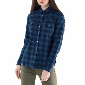 bdf6755e71f6 LEVI S - Γυναικείο μακρυμάνικο πουκάμισο LEVI S μπλε με καρό μοτίβο