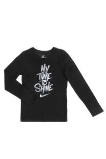 845ca725a9d NIKE - Παιδική μακρυμάνικη μπλούζα για κορίτσια Nike Sportswear μαύρη
