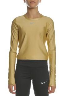 NIKE - Γυναικεία μακρυμάνικη μπλούζα NIKE SPEED TOP LS χρυσή