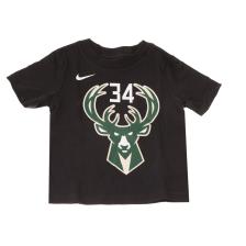 NIKE NBA KIDS - Βρεφικό t-shirt NIKE NBA KIDS BCKGA STATEMENT N&N CTTN μαύρο