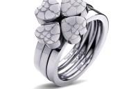 FOLLI FOLLIE - Σετ από τρία δαχτυλίδια FOLLI FOLLIE H4H SWEETHEART ασημί