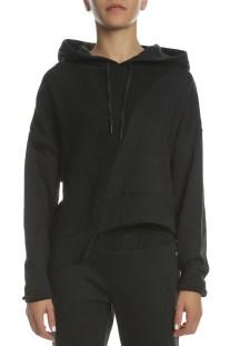 CONVERSE - Γυναικεία μπλούζα φούτερ CONVERSE Sweater Knit Cropped μαύρη