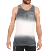 SUPERDRY - Ανδρική αμάνικη μπλούζα SUPERDRY WEST COAST VEST γκρι εκρού