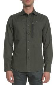 G-STAR - Ανδρικό μακρυμάνικο πουκάμισο POWEL λαδί