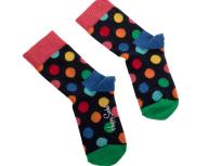 HAPPY SOCKS - Παιδικές κάλτσες KIDS BIG DOT πουά πολύχρωμο
