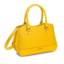 FOLLI FOLLIE - Γυναικεία τσάντα χειρός FOLLI FOLLIE UPTOWN BEAUTY κίτρινη