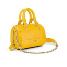 FOLLI FOLLIE - Γυναικεία μικρή τσάντα χειρός FOLLI FOLLIE UPTOWN BEAUTY κίτρινη