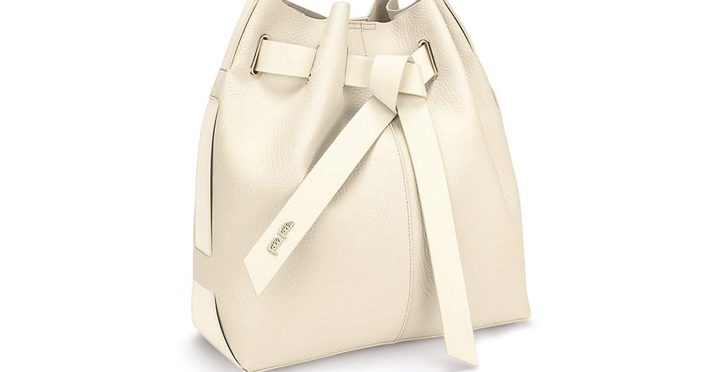 FOLLI FOLLIE - Γυναικεία μεγάλη τσάντα πουγκί FOLLI FOLLIE εκρού