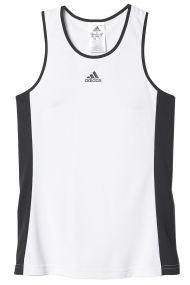 adidas - Γυναικείο crop φανελάκι για τέννις adidas GALAXY TANK λευκό-μαύρο