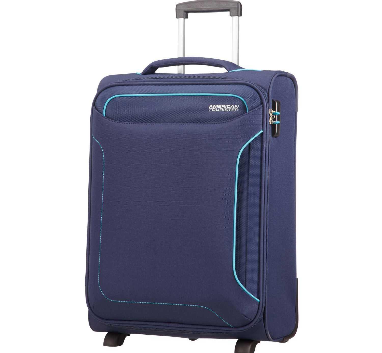 AMERICAN TOURISTER - Βαλίτσα καμπίνας HOLIDAY HEAT UPRIGHT 55/20 navy μπλε