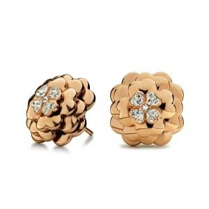 FOLLI FOLLIE - Γυναικεία καρφωτά σκουλαρίκια FOLLI FOLLIE ροζ-χρυσά