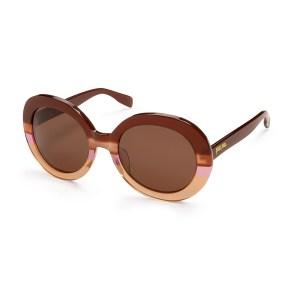 FOLLI FOLLIE - Γυναικεία γυαλιά ηλίου στρογγυλά FOLLI FOLLIE καφέ