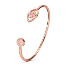 FOLLI FOLLIE - Γυναικείο ασημένιο βραχιόλι FOLLI FOLLIE HEART4HEART MATI ροζ χρυσό