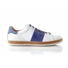 CHANIOTAKIS - Ανδρικά sneakers SPORT COLANDER λευκά-μπλε